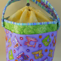 Gift for her, Handmade Sewing bag, Bag for all Sewing Notions, Cotton holdall,, Gift Ideas