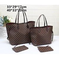 Louis Vuitton LV Monogram Canvas shopping bag handbag shoulder bag two-piece set