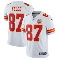 Men's Kansas City Chiefs Travis Kelce Nike White Vapor Untouchable Limited Player Jersey