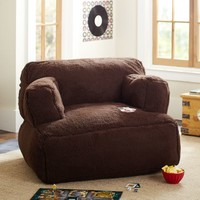 Chocolate Sherpa Faux Fur Eco Lounger