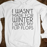 Supermarket: I Want My Flip Flops Hoodie from Glamfoxx Shirts