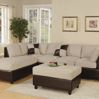 F7618 - Mushroom Sectional Sofa Set - Furniture2Go