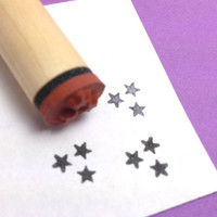 Three Tiny Stars Rubber Stamp