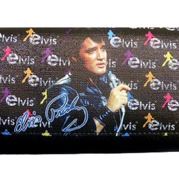 Licensed  Elvis Presley Black Wallet