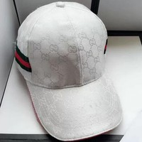 WHITE Gucci Fashion Casual Hat Cap