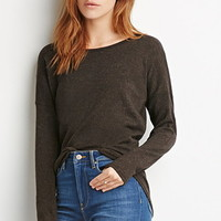 Marled Long-Sleeved Top