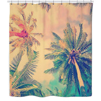 Hipster Palms Shower Curtain