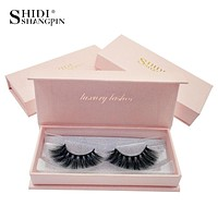 1 Pair Natural Long Mink Eyelashes Extension