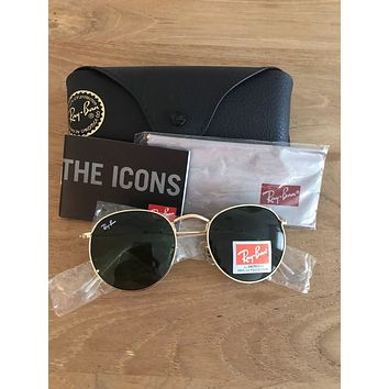 New Ray Ban Sunglasses Round Metal RB3447 50mm G-15