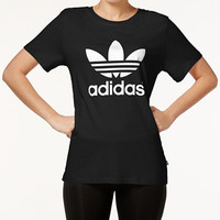 adidas Originals Boyfriend Trefoil T-Shirt - Tops - Women - Macy's
