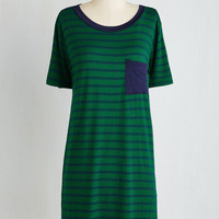 Mid-length Short Sleeves Shift Flowy Know-How Dress by ModCloth
