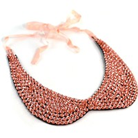 Peach Peter Pan Collar Necklace