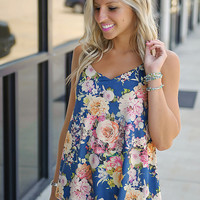 Flower Muse Suede Print Tank