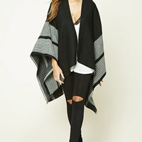 Stripe Draped Shawl