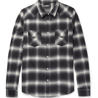 AMIRI - Slim-Fit Checked Cotton-Blend Flannel Shirt