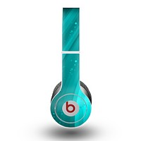 The Glowing Teal Abstract Waves Skin for the Beats by Dre Original Solo-Solo HD Headphones