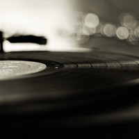 Record Player: play that song again 5x7 Fine Art Photography Black and White Still life