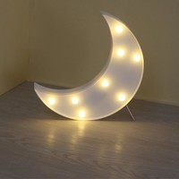 LED 3D Marquee Could Moon Night Light