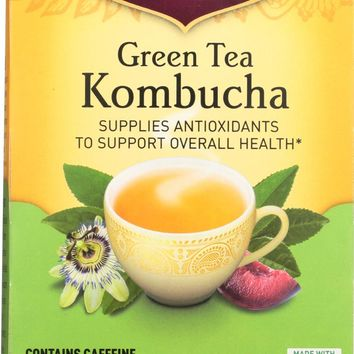 YOGI TEA: Green Tea Kombucha, 16 Tea Bags