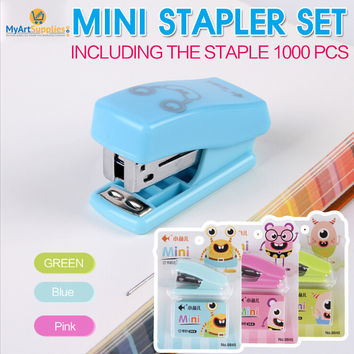 Mini Staplers (5 Pack Value Pack) With 1000 Staples