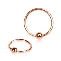 16G Rose Gold Tone Captive Bead Ring