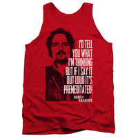 SONS OF ANARCHY/WITH TIG-ADULT TANK-RED