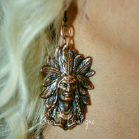 Bronze Chief Earrings