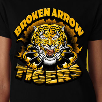 Broken Arrow Tigers Tear T-Shirt