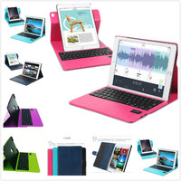Christmas gift for students 360 Degree Rotating Magnet adsorption PU Leather Case Cover+Removable Bluetooth Keyboard for ipad air 9.7 inch
