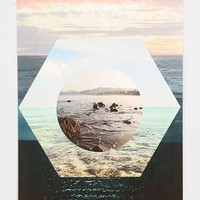 Beach Collage Poster- Multi One Size- Multi One