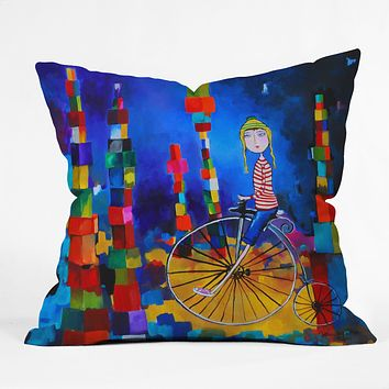 Robin Faye Gates Out Of Bounds Outdoor Throw Pillow