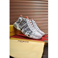 FENDI  Men Fashion Boots fashionable Casual leather Breathable Sneakers Running Shoes0524em