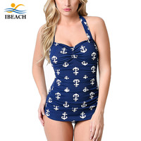 Vintage Retro One Piece Swimsuit Plus Size