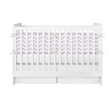 Light Purple Chevron Crib Bumper