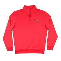 Georgia Bulldog Gameday Performance Skipjack 1/4 Zip Pullover in Varsity Red by Southern Tide
