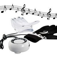 Magical Electronic Piano Gloves Keyboard Musical Music Instrument (Black+White)