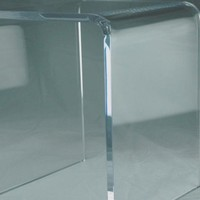 "3/4"" CLEAR ACRYLIC SHOWER BENCH 