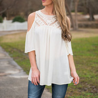 Sugar And Spice Top, Ivory