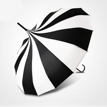 Black & White Victorian Umbrella