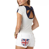 White Union Jack Short