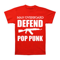 Man Overboard Men's  Defend Pop Punk T-shirt Red Rockabilia