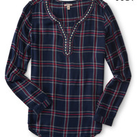 Cape Juby Fashion Plaid Top