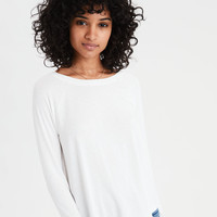 AE Soft & Sexy Long Sleeve T-Shirt, Natural White