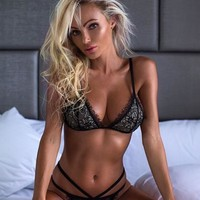 Sexy Push Up Top Bra+Pants Underwear Set