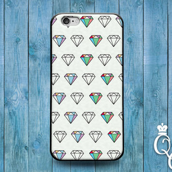 iPhone 4 4s 5 5s 5c 6 6s plus + iPod Touch 4th 5th 6th Gen Amazing White Pretty Diamond Pattern Phone Case Cute Custom Artistic Classy Cover
