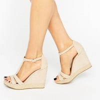 Call It Spring Gralia T-Bar Wedge With Rope Detail