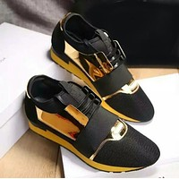 One-nice™ BALENCIAGA yellow fashion casual shoes