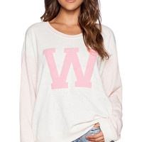 Wildfox Couture Cheer Squad Pullover in Pink