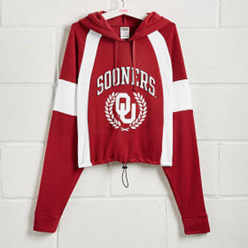 University of Oklahoma Colorblock Bungee Hem Pullover - PINK - Victoria's Secret