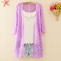 Knitted Wave Cardigan for Women
